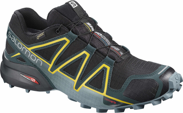 Salomon Speedcross 4 GTX Shoes Herren blackreflecting pondspectra yellow